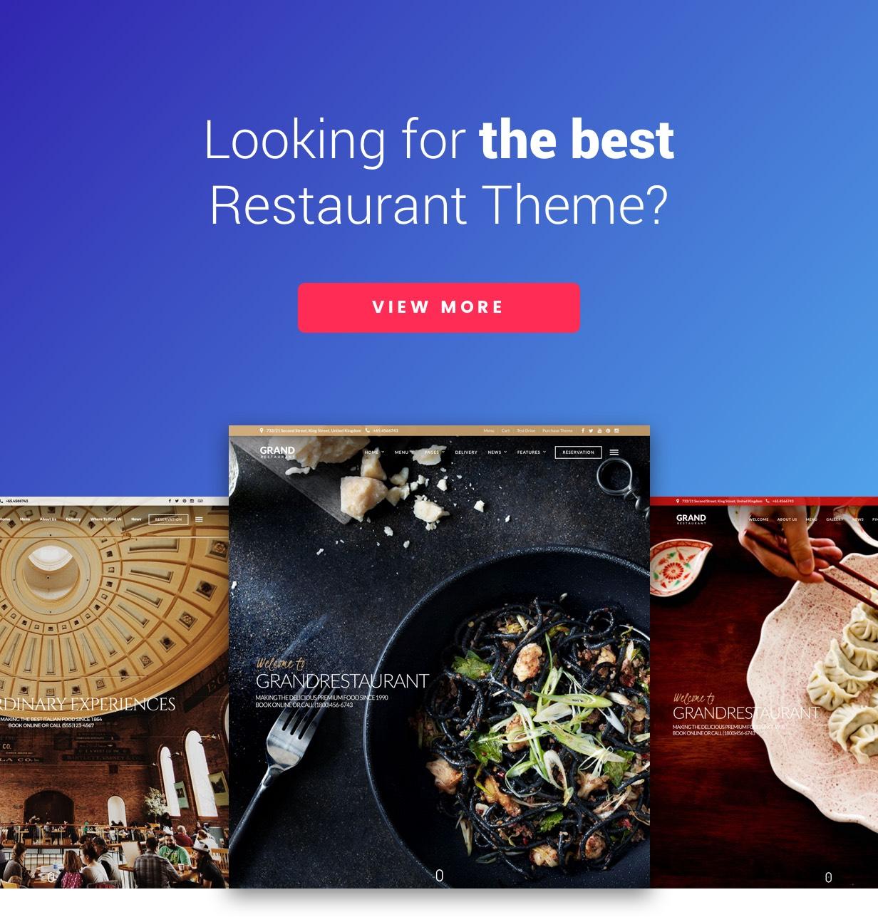 Capella   Restaurant WordPress Download