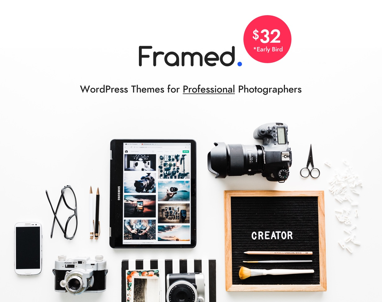 framed | photography wordpress for photographer (photography) Framed | Photography WordPress for Photographer (Photography) logo2