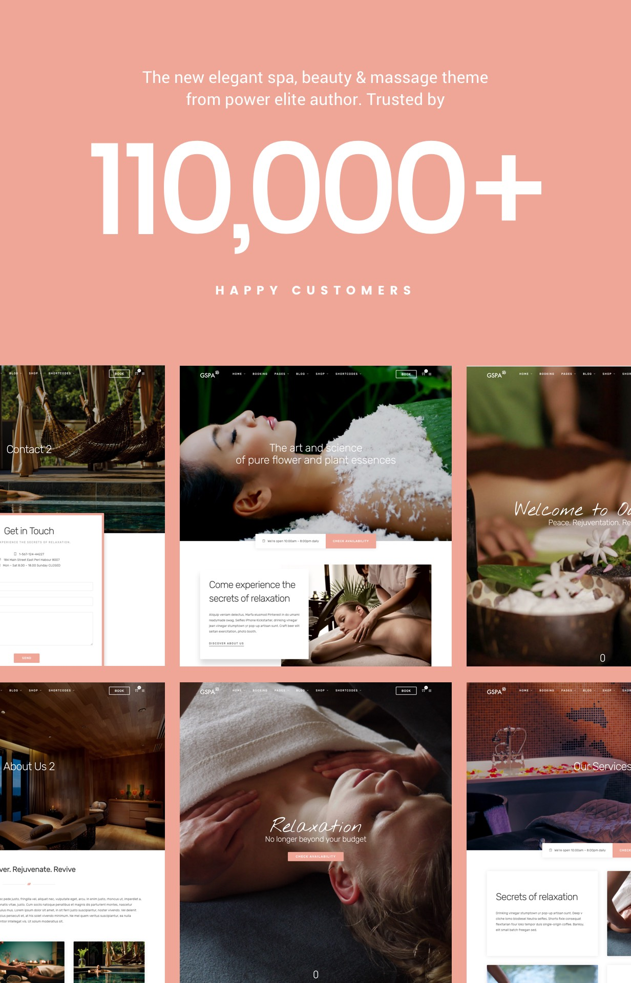 WordPress theme Grand Spa | Beauty Massage WordPress (Health & Beauty)