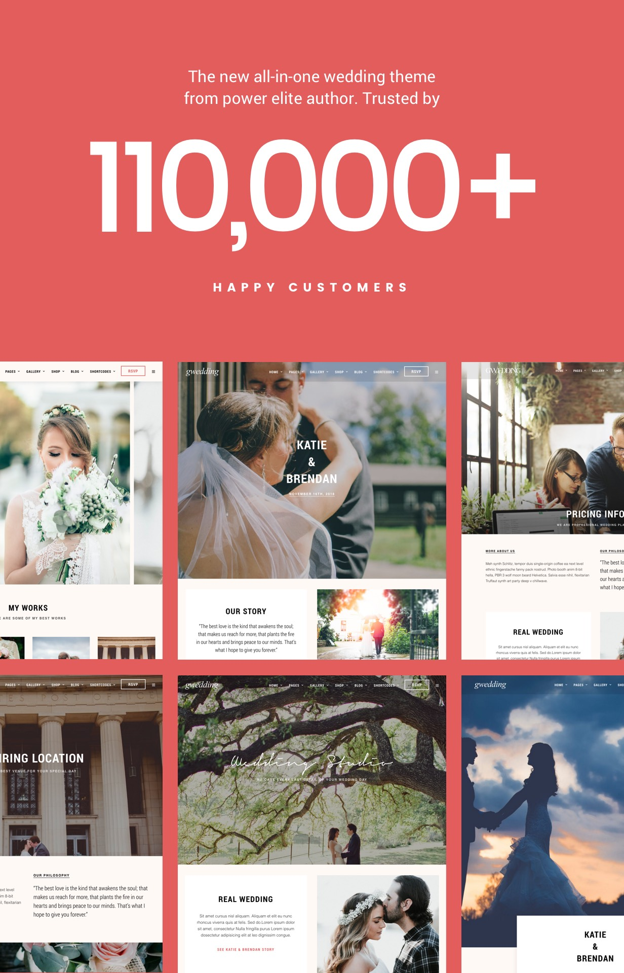 WordPress theme Grand Wedding | Wedding WordPress (Wedding)